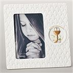 QUILTED PORCELAIN FIRST COMMUNION PICTURE FRAME - 1