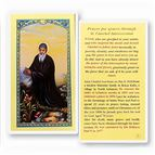 LAMINATED HOLY CARD - ST. CHARBEL - 1
