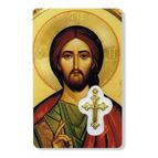 OUR FATHER HOLY CARD WITH MEDAL - 1