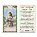 LAMINATED HOLY CARD - SAINT MARIA GORETTI - 1