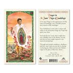 LAMINATED HOLY CARD - ST. JUAN DIEGO - 1