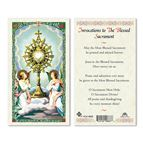 LAMINATED HOLY CARD - BLESSED SACRAMENT - 1