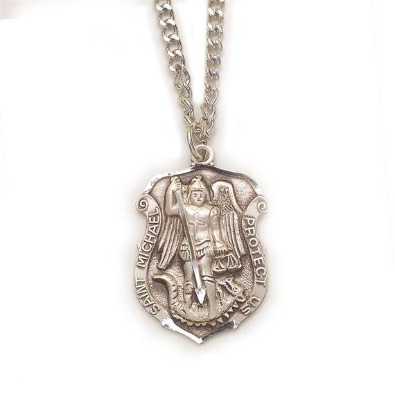 Michael Badge Medal Sterling Silver St