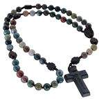 MULTI-COLOR ONYX BEAD AND JUJUBE WOOD ROSARY - 2