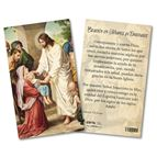 PRAYER IN TIMES OF EPIDEMICS LAMINATED SPANISH HOLY CARD - 1