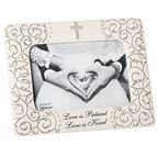 LOVE IS PATIENT WEDDING PICTURE FRAME - LARGER - 1