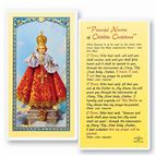 LAMINATED HOLY CARD - INFANT OF PRAGUE NOVENA - 1