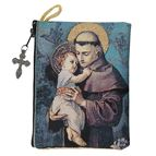 ST. ANTHONY - TAPESTRY ROSARY POUCH - 1