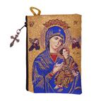 OUR LADY OF PERPETUAL HELP TAPESTRY - ROSARY POUCH - 1