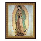 OUR LADY OF GUADALUPE FRAMED UNDER GLASS - 1