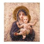 MADONNA AND CHILD PLAQUE - BOUGUEREAU - 1