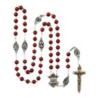 WARRIOR'S ROSARY - LARGE RED AGATE - 1
