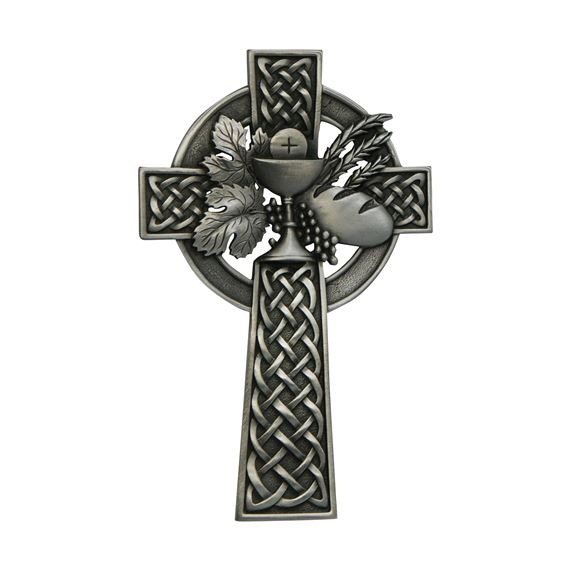 PEWTER CELTIC COMMUNION CROSS
