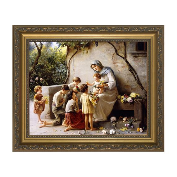 MARY AND THE CHILDREN FRAMED ART