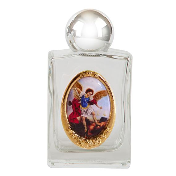 ST. MICHAEL HOLY WATER BOTTLE (GLASS)