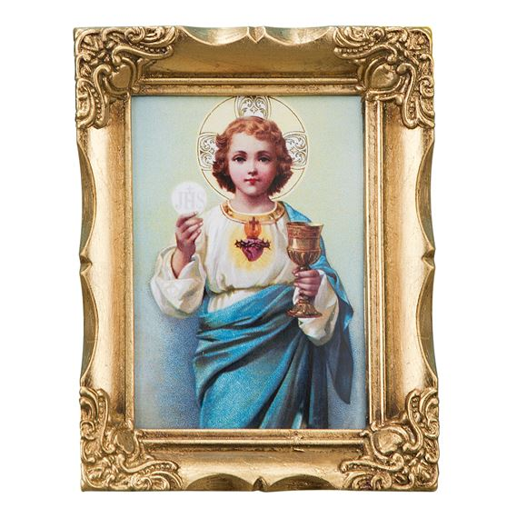 EUCHARISTIC CHILD JESUS FRAMED