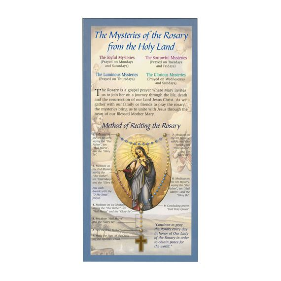 MYSTERIES OF THE ROSARY LAMINATED PAMPHLET