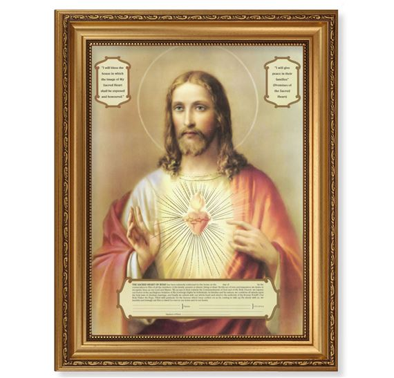ENTHRONEMENT TO THE SACRED HEART OF JESUS FRAMED