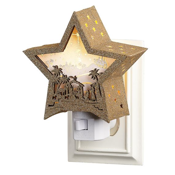 NATIVITY STAR NIGHT LIGHT
