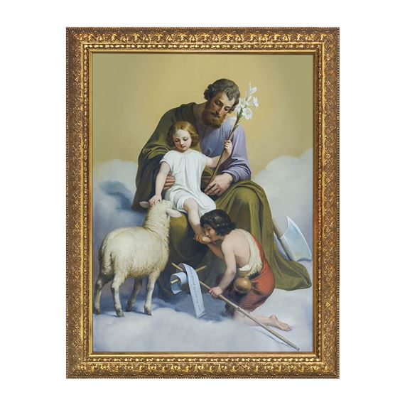 ST. JOSEPH GUARDIAN OF SONS - FRAMED PRINT