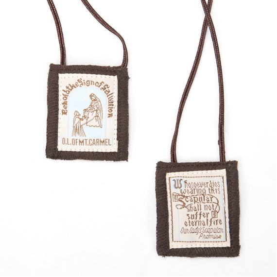 BROWN SCAPULAR - 100% WOOL
