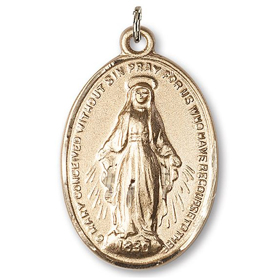 MIRACULOUS MEDAL 14KT GOLD