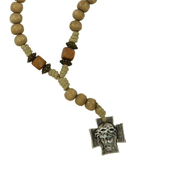Chaplet Of The Holy Face Wood Bead