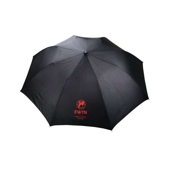 EWTN BLACK AND RED COMPACT UMBRELLA