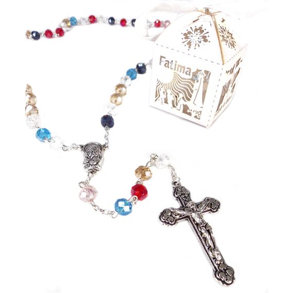 OUR LADY OF FATIMA ROSARY IN FANCY BOX