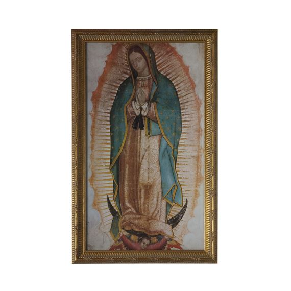 OUR LADY OF GUADALUPE WITH GOLD FRAME
