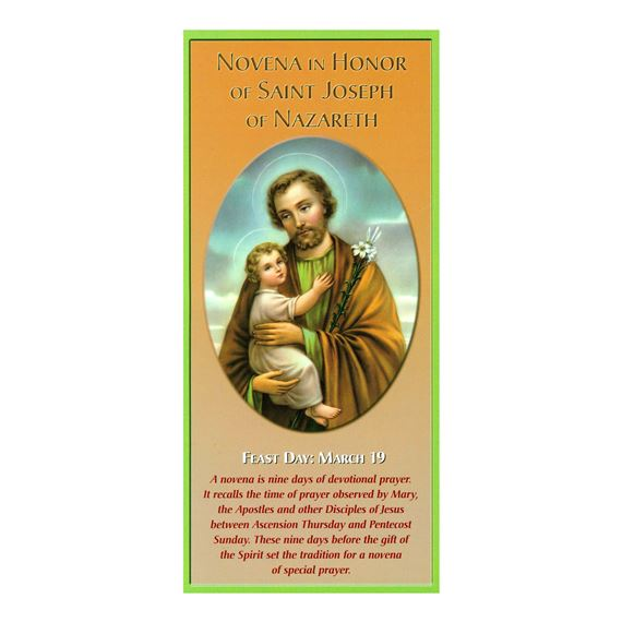 NOVENA IN HONOR OF ST. JOSEPH