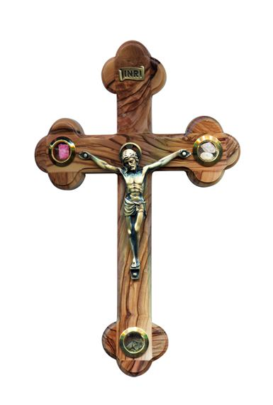 HOLY LAND OLIVE WOOD CRUCIFIX