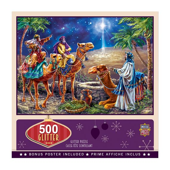 THREE MAGI 500-PIECE GLITTER PUZZLE