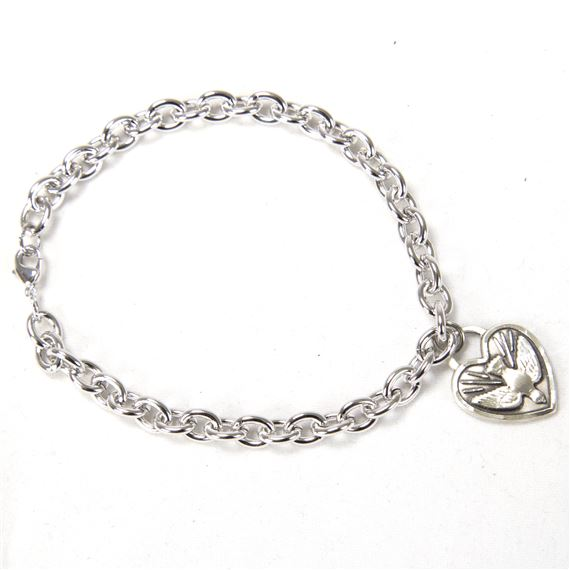 HOLY SPIRIT MEDAL - CABLE BRACELET