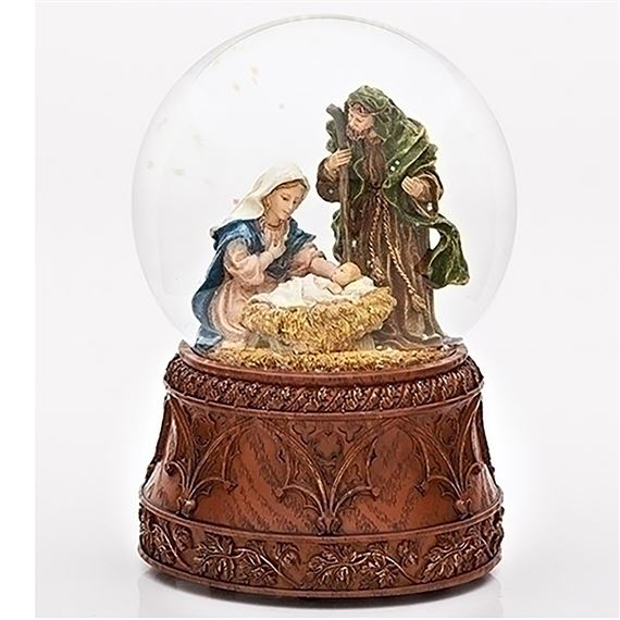 HOLY FAMILY MUSICAL GLITTER DOME