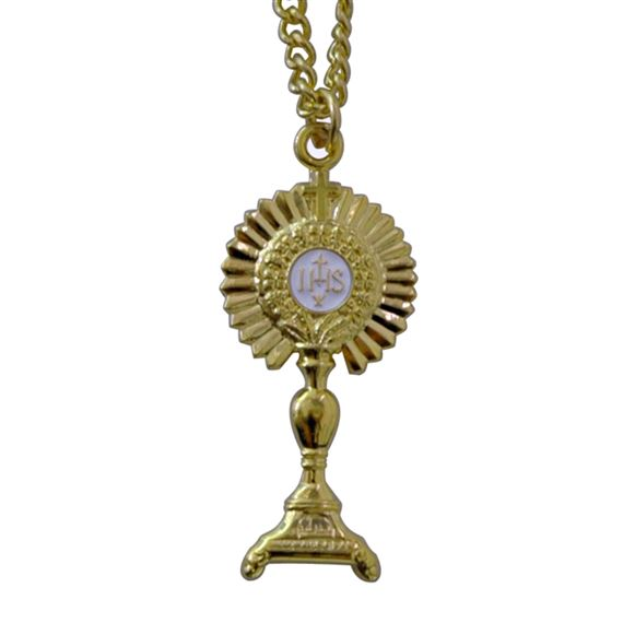 GOLD MONSTRANCE PENDANT