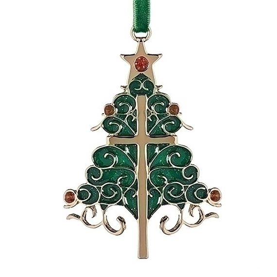 CHRISTMAS CROSS TREE ORNAMENT