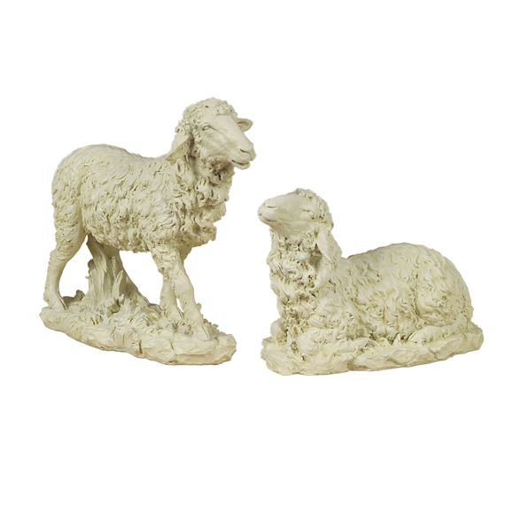 OUTDOOR NATIVITY - SET OF 2 SHEEP