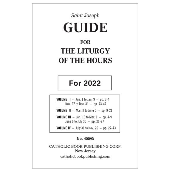 ANNUAL GUIDE FOR 4-VOL. LITURGY OF THE HOURS 2020