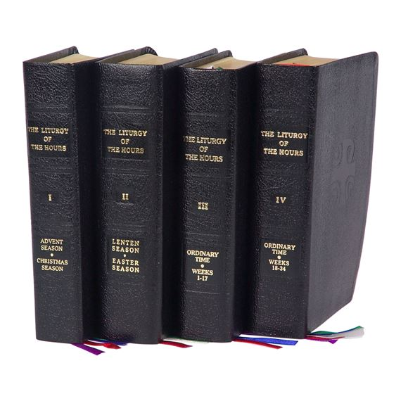 4-VOLUME LITURGY OF THE HOURS - LEATHER