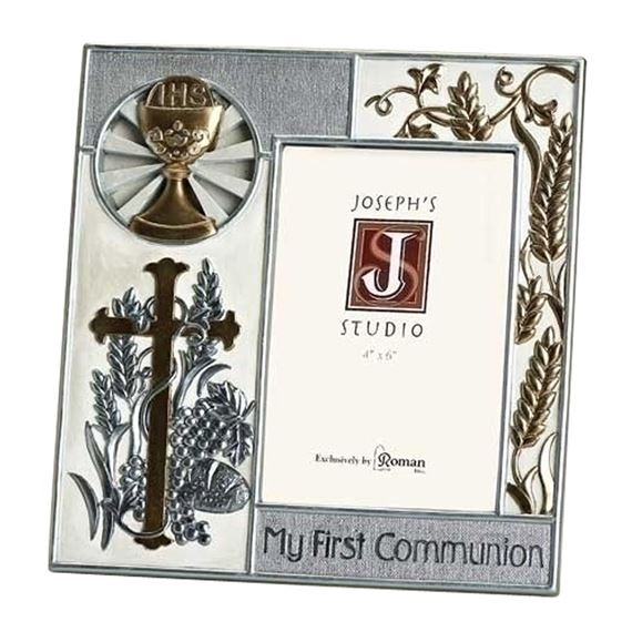 MY FIRST COMMUNION - SILVER & GOLD PICTURE FRAME