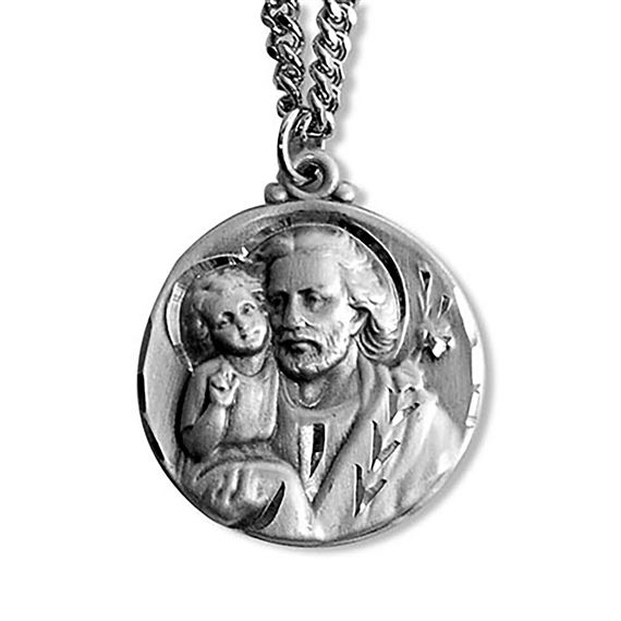 ST. JOSEPH AND THE CHILD JESUS STERLING MEDAL