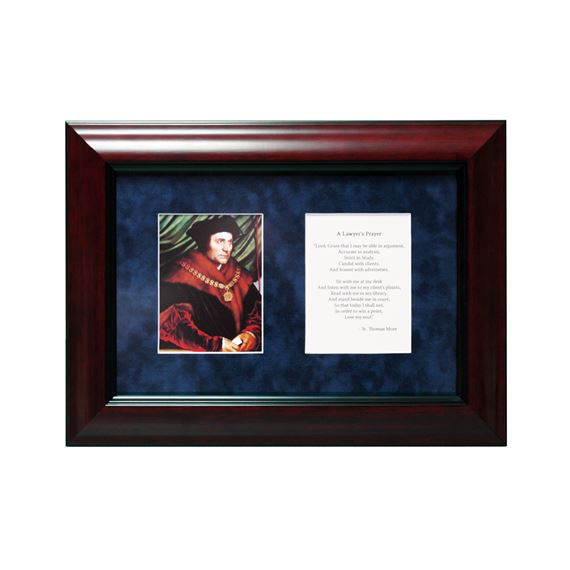 "ST. THOMAS MORE LAWYER'S PRAYER - 14 1/4"" X 10 1/4"""
