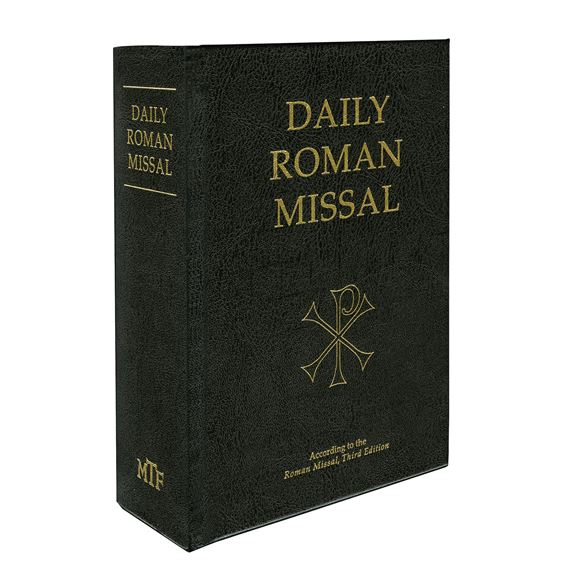 THE DAILY ROMAN MISSAL - BLACK HARDCOVER