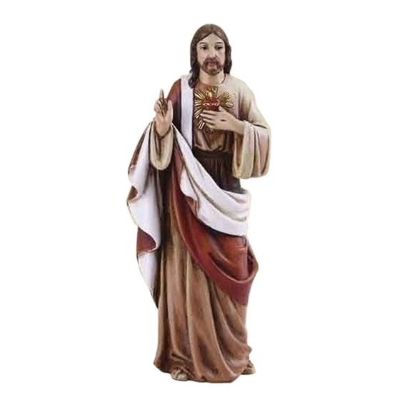 "SACRED HEART OF JESUS - 4"" STATUE"