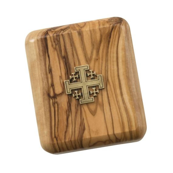 OLIVE WOOD ROSARY BOX