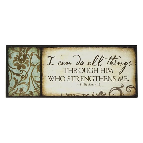 I CAN DO ALL THINGS - MINI PLAQUE