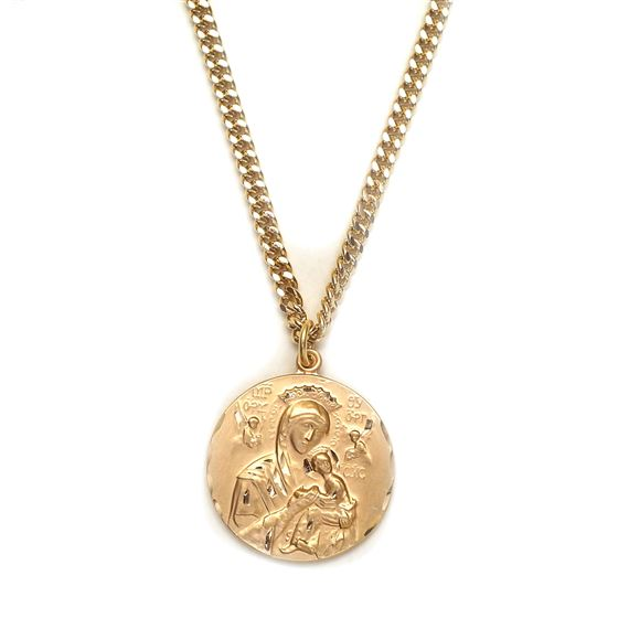 OUR LADY OF PERPETUAL HELP MEDAL-GOLD-FILLED