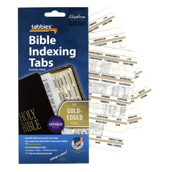 CATHOLIC BIBLE TABS GOLD