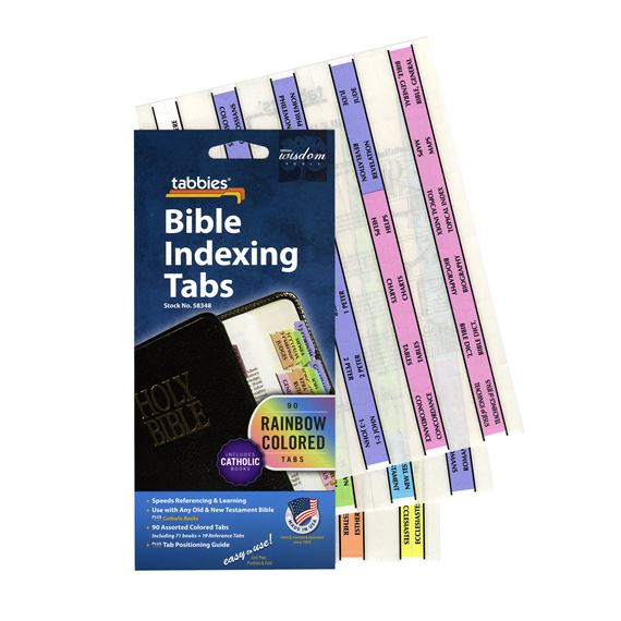 CATHOLIC BIBLE TABS - RAINBOW